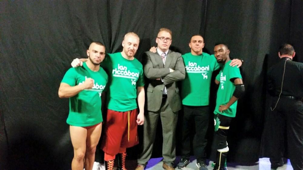 From left: Will Ferrara, Tim Hughes, Ian Riccaboni, LSG, Cheeseburger